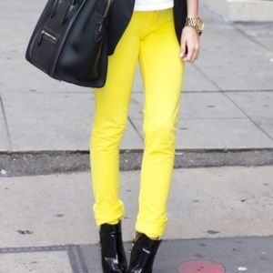 Michael Kors Jeans Straight Leg Slim Neon Yellow